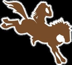 Cowgirl On Wild Horse Sticker