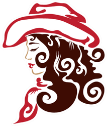 Cowgirl With Curls And Hat Sticker