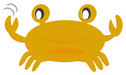 Crab Clip Art & Cartoon Sticker