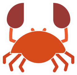 Crab Icon Illustration Sticker