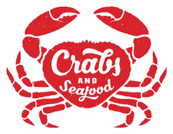 Crabs And Seafood Sticker