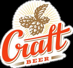 Craft Beer Logo Sticker