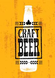 Craft Beer Wheat Banner Sticker