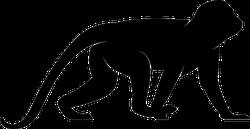 Crawling Monkey Silhouette Sticker