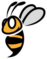Creative Bumble Bee Sticker