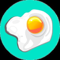 Creative Cartoon Illustration Chicken Egg Fried Sticker