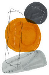 Creative Minimalist Hand Painted Illustration Sticker