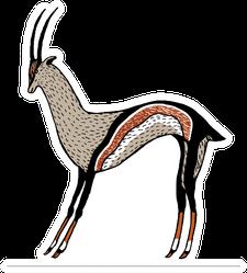 Creative Modern Animal Antelope Illustration Sticker