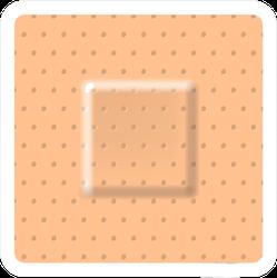 Creative Square Illustration Of Adhesive Bandage Sticker