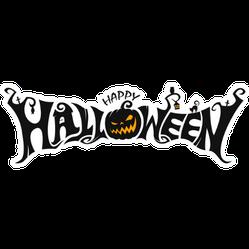 Creepy Happy Halloween Sticker