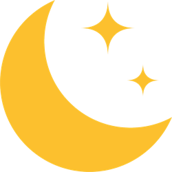 Crescent Moon Icon Sticker
