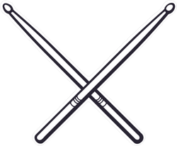 Crossed Drumsticks Sticker