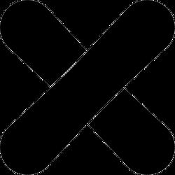Crossed Snowboards Icon Sticker