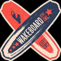 Crossed Wakeboards Sticker