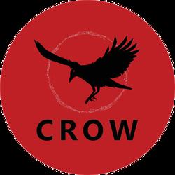 Crow Bird Logo In Red Sticker