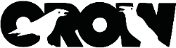 Crow Lettering Logo Illustration Sticker
