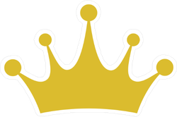 Crown Icon Vector Sticker