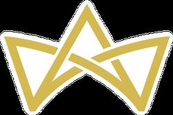 Crown Logo Line Vector Sticker