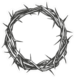 Crown Of Thorns Sticker