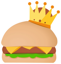 Crowned Burger Sticker