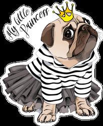Crowned Pug Sticker