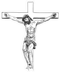 Crucified Jesus Christ Sticker