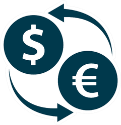 Currency Exchange Sticker