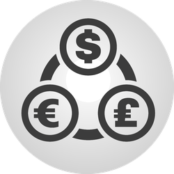 Currency Exchange Symbol Sticker