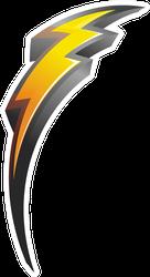 Curved Lightning Bolt Icon Sticker