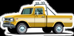 Custom Yellow Pickup Offroad Sticker