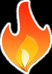Cut Paper Fire Sticker
