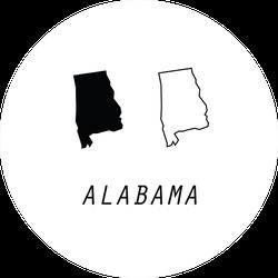 Cute Alabama Outline Maps Sticker