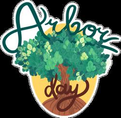 Cute Arbor Day Sticker