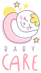 Cute Baby Care Sticker