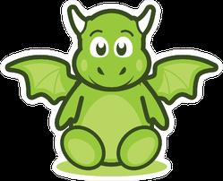 Cute Baby Dragon Mascot Sticker