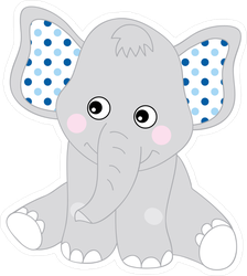 Cute Baby Elephant Smiling Sticker