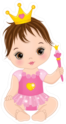 Cute Baby Girl Princess Sticker