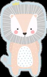 Cute Baby Lion Sticker