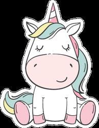 Cute Baby Unicorn Sticker