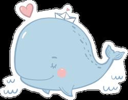 Cute Baby Whale Sticker