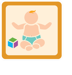 Cute Baby with Blocks Sticker