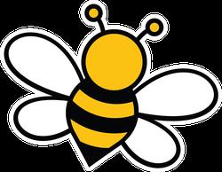 Cute Bee Doodle Sticker