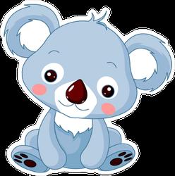 Cute Blue Koala Bear Sticker