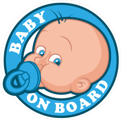 Cute Boy Blue Baby on Board Sticker