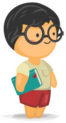 Cute Boy With Glasses Holding A Book Sticker