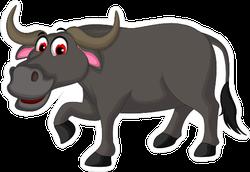 Cute Buffalo Cartoon