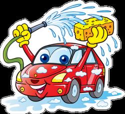 Cute Car Wash Sticker