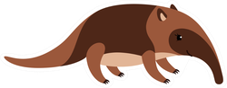 Cute Cartoon Anteater Sticker
