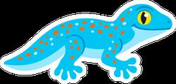 Cute Cartoon Blue Gecko Sticker