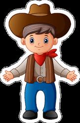 Cute Cartoon Cowboy Sticker